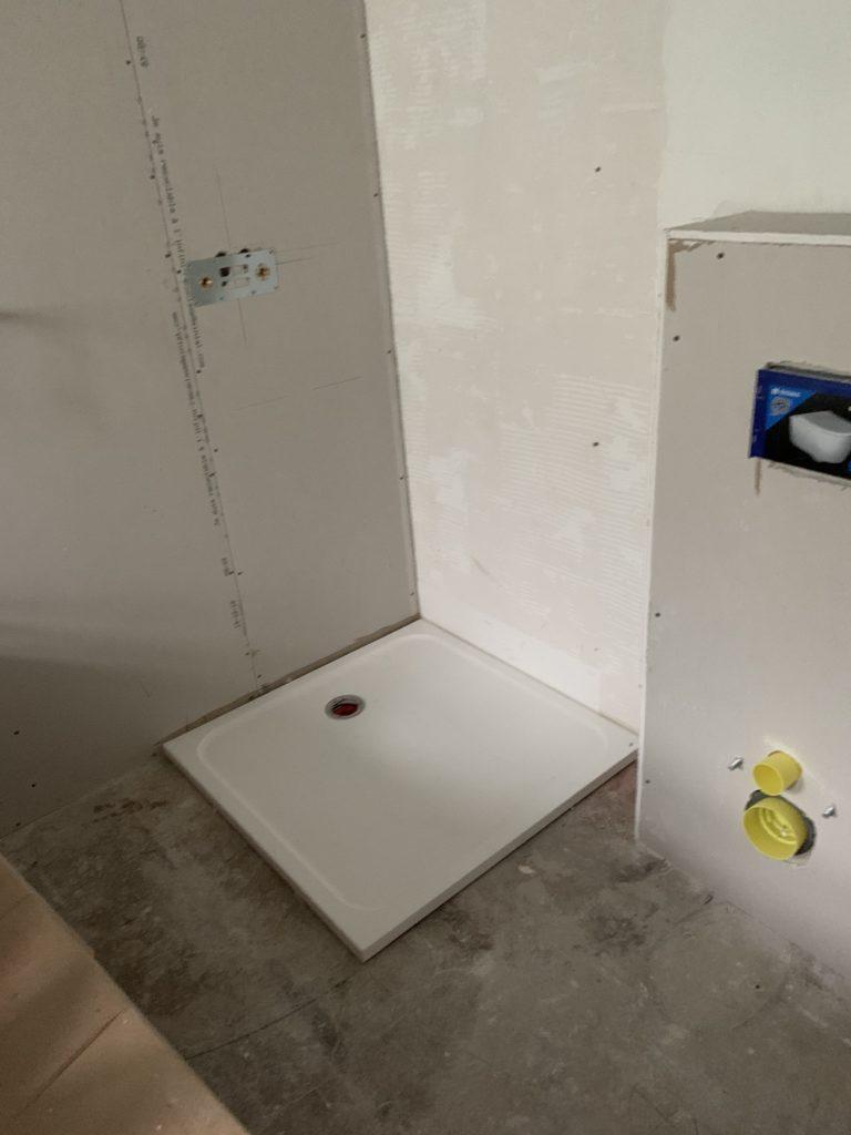 Rénovation maison Angers - Création d'une douche - bac à douche