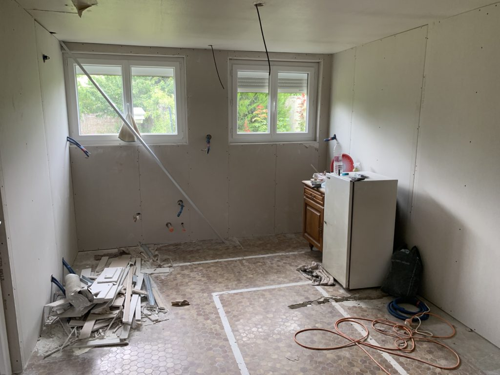 Rénovation maison Angers, Isolation des murs