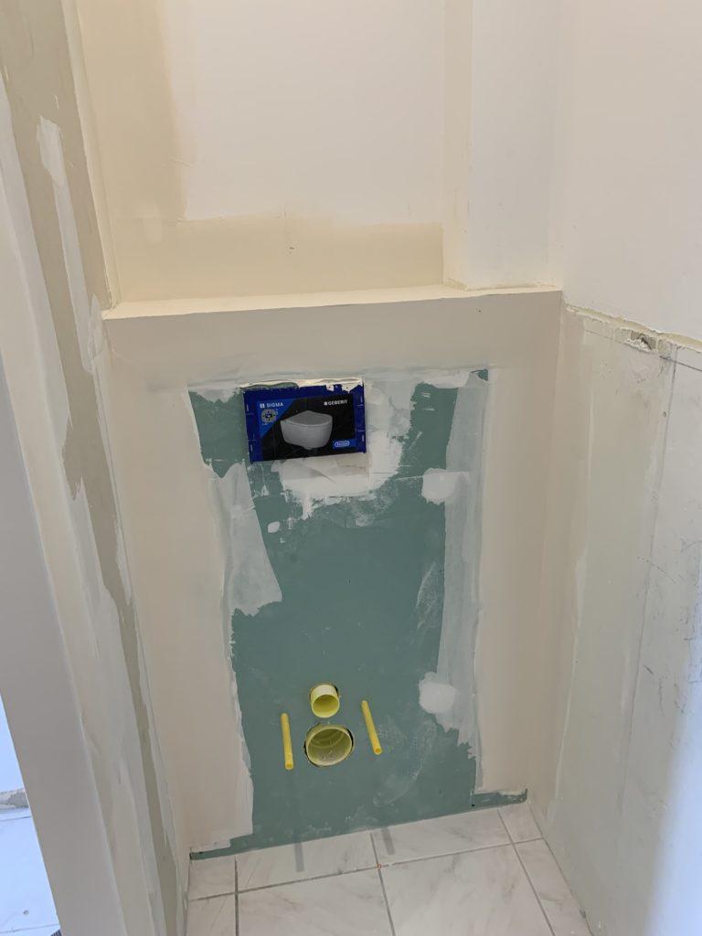 rénovation salle de bain Angers - wc suspendu